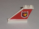 Part No: 2340pb037L  Name: Tail 4 x 1 x 3 with Fire Logo Badge on Red Background Pattern on Left Side (Sticker) - Set 7206