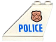 Part No: 2340pb058L  Name: Tail 4 x 1 x 3 with Police Copper Star Badge and Blue 'POLICE' Pattern on Left Side (Sticker) - Set 60130