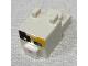 Part No: 24008pb04  Name: Plate, Modified 1 x 2 with Cube with Ears, Nose and Pixelated Face with Dark Brown and Bright Light Orange Spots Pattern (Minecraft Cat - Calico)