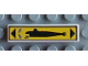 Part No: 2431pb014  Name: Tile 1 x 4 with Submarine Left Pattern (Sticker) - Set 8480