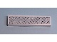 Part No: 2431pb075  Name: Tile 1 x 4 with Silver Tread Plate and 6 Rivets Pattern (Sticker)