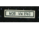 Part No: 2431pb100  Name: Tile 1 x 4 with Black 'WOB VW 1960' on White Background Pattern (Sticker) - Set 10187