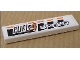 Part No: 2431pb104  Name: Tile 1 x 4 with 'FUEL4 SPEED' on Black and Orange Stripes Pattern (Sticker) - Set 8135