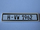 Part No: 2431pb176  Name: Tile 1 x 4 with Black 'H-VW 1962' Pattern (Sticker) - Set 10220