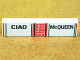 Part No: 2431pb192  Name: Tile 1 x 4 with 'CIAO' and 'McQUEEN' Pattern