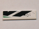 Part No: 2431pb332R  Name: Tile 1 x 4 with Black and Green Pattern Model Right Side (Sticker) - Set 8864