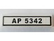 Part No: 2431pb504  Name: Tile 1 x 4 with 'AP 5342' License Plate Pattern (Sticker) - Set 8289