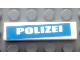 Part No: 2431pb543  Name: Tile 1 x 4 with White 'POLIZEI' on Blue Background Pattern (Sticker) - Set 7245-2