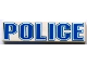 Part No: 2431px14  Name: Tile 1 x 4 with 'POLICE' Blue Outline Pattern