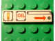 Part No: 2431px23  Name: Tile 1 x 4 with Three Panels, 'OIL' and Arrow Right Pattern