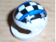Part No: 2446pb01  Name: Minifigure, Headgear Helmet Motorcycle (Standard) with Checkered Stripe and 4 Silver Stars Pattern