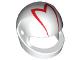 Part No: 2446pb24  Name: Minifigure, Headgear Helmet Standard with Red 'M' Pattern