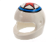Part No: 2446pb37  Name: Minifigure, Headgear Helmet Motorcycle (Standard) with Red Star In Blue Circle Pattern