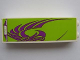 Part No: 2454pb038  Name: Brick 1 x 2 x 5 with Purple Stylized Bird on Lime Background Pattern (Sticker) - Set 8161
