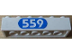 Part No: 2456pb002  Name: Brick 2 x 6 with White '559' in Blue Oval Pattern (Sticker) - Set 6559