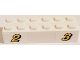 Part No: 2456pb017  Name: Brick 2 x 6 with Yellow Number 2 and 3 with Black Outline Pattern (Stickers) - Set 60084