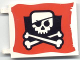 Part No: 2525px6  Name: Flag 6 x 4 with Skull and Crossbones (Eyepatch) Pattern