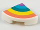Part No: 25269pb008  Name: Tile, Round 1 x 1 Quarter with Pastel Rainbow Pattern