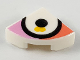 Part No: 25269pb011  Name: Tile, Round 1 x 1 Quarter with Large Eye on Coral and Bright Pink Background Pattern