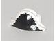 Part No: 2528pb02  Name: Minifigure, Headgear Hat, Pirate Bicorne with Admiral Pattern
