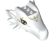 Part No: 25304pb01  Name: Dragon Head (Elves) Upper Jaw Large, 3 Studs on Top with Dark Azure Eyes, 2 Diamonds and Gold Tribal Pattern (Elandra)