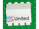 Part No: 2582pb02  Name: Hinge Panel 2 x 4 x 3 1/3 with 'United' and USA Flag Pattern (Sticker) - Set 1682
