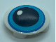 Part No: 2654pb017  Name: Plate, Round 2 x 2 with Rounded Bottom and Medium Azure Eye Pattern