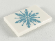 Part No: 26603pb051  Name: Tile 2 x 3 with Metallic Blue Snowflake Pattern