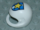 Part No: 2715px2  Name: Technic, Figure Accessory Helmet with Police Yellow Star on Blue / White Shield Pattern