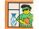 Part No: 2756pb152  Name: Duplo Tile 2 x 2 x 1 with Town Mosaic Picture 08 Pattern (Set 9221)