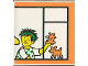 Part No: 2756pb153  Name: Duplo Tile 2 x 2 x 1 with Town Mosaic Picture 09 Pattern (Set 9221)