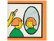 Part No: 2756pb156  Name: Duplo Tile 2 x 2 x 1 with Town Mosaic Picture 12 Pattern (Set 9221)