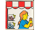Part No: 2756pb158  Name: Duplo Tile 2 x 2 x 1 with Town Mosaic Picture 14 Pattern (Set 9221)