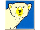 Part No: 2756pb165  Name: Duplo Tile 2 x 2 x 1 with Polar Bear Mosaic Picture 03 Pattern (Set 1079)