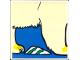 Part No: 2756pb167  Name: Duplo Tile 2 x 2 x 1 with Polar Bear Mosaic Picture 05 Pattern (Set 1079)