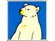 Part No: 2756pb171  Name: Duplo Tile 2 x 2 x 1 with Polar Bear Mosaic Picture 09 Pattern (Set 1079)