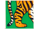 Part No: 2756pb184  Name: Duplo Tile 2 x 2 x 1 with Tiger Mosaic Picture 04 Pattern (Set 1079)