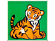 Part No: 2756pb189  Name: Duplo Tile 2 x 2 x 1 with Tiger Mosaic Picture 09 Pattern (Set 1079)