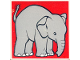 Part No: 2756pb208  Name: Duplo Tile 2 x 2 x 1 with Elephant Mosaic Picture 10 Pattern (Set 1079)