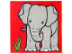 Part No: 2756pb209  Name: Duplo Tile 2 x 2 x 1 with Elephant Mosaic Picture 11 Pattern (Set 1079)