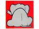 Part No: 2756pb210  Name: Duplo Tile 2 x 2 x 1 with Elephant Mosaic Picture 12 Pattern (Set 1079)