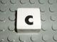 Part No: 2756pb338  Name: Duplo Tile 2 x 2 with Lowercase c Pattern (Set 1018)