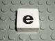 Part No: 2756pb340  Name: Duplo Tile 2 x 2 with Lowercase e Pattern (Set 1018)