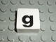 Part No: 2756pb342  Name: Duplo Tile 2 x 2 with Lowercase g Pattern (Set 1018)