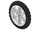 Part No: 2903c01  Name: Wheel 61.6mm D. x 13.6mm Motorcycle, with Black Tire 81.6 x 15 Motorcycle (2903 / 2902)