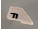 Part No: 29120pb002  Name: Wedge 2 x 1 with Stud Notch Left with Black Letter F on White Background Pattern (Sticker) - Set 42096