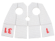 Part No: 29338pb01  Name: Minifigure, Cape Cloth, Collar with 4 Square Strips with Calendar Numbers Pattern