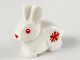 Part No: 29685pb02  Name: Bunny / Rabbit with Red Eyes, Nose and Flower Pattern