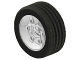 Part No: 2998c01  Name: Wheel 81.6 x 34 Six Spoke with Black Tire 81.6 x 34 ZR Technic Straight Tread (2998 / 2997)