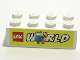 Part No: 3001pb082  Name: Brick 2 x 4 with LEGO World Pattern